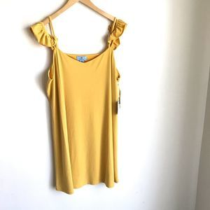 CeCe Turmeric Dress Cold Shoulder Lined NWTS